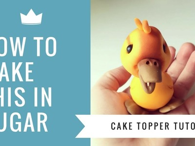 How to make a cute Duckling Cake Topper Tutorial