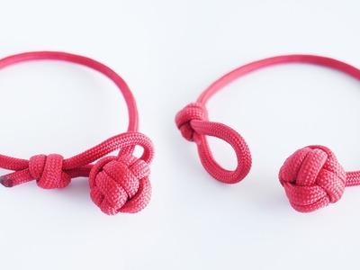 How to Make a Single Strand Monkey's Fist Paracord Bracelet Tutorial