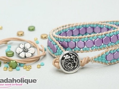 How to Make the Honeycomb Double Wrapped Loom Bracelet Kits by Beadaholique