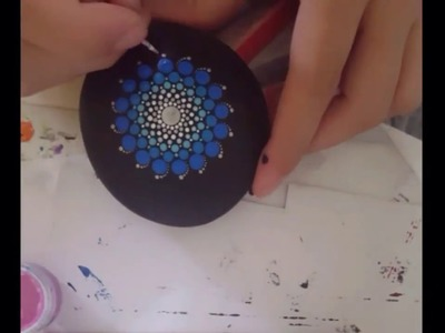 How to paint dot Mandala #2.    Blue & Silver