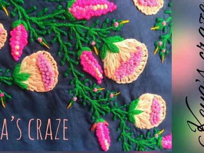 Kurti Neckline hand embroidery tutorial | Keya's craze | 2018