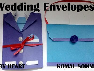 New Style of Wedding Envelopes Tuxedo and Purse | Shagun Envelopes Tutorial by Komal Sommanek
