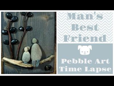 Pebble Art Time Lapse [ Man's Best Friend ]