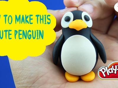 Play Doh Penguin - How to Make A Cute Penguin With Play Doh Episode 19