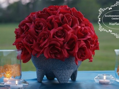 Southwestern Flair Rose  Centerpiece| DIY Budget Centerpiece| DIY Decor Tutorial