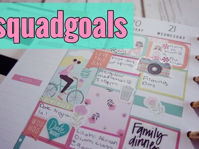 SQUAD GOALS HAPPY PLANNER PLAN AS I GO | CLASSIC HAPPY PLANNER PLAN WITH ME