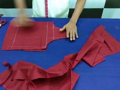 ব্লাউজ কাটার সবচেয়ে সহজ পদ্ধতি ॥ How to cut a Blouse easily.