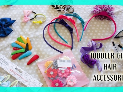 Toddler.Baby Girls Hair Accessories Collection (Clips, Headbands) || Family Vlogs