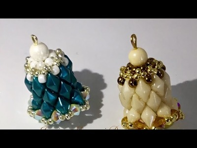 Tutorial Campanella con perline diamond duos - beading bell