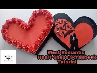 Tutorial (Heart Shape Scrapbook Making )