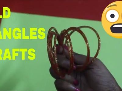 WASTE BANGLES CRAFTS EASY WAY IN HOME.DIY