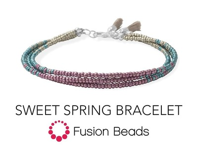 Watch how to create the Sweet Spring Bracelet by Fusion Beads