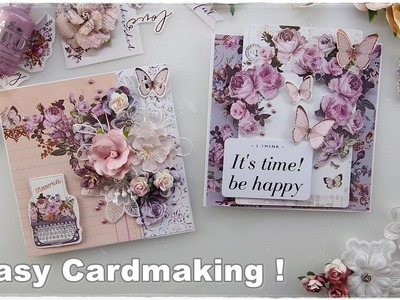 2 Super Easy Beginners Cards ♡ Maremi's Small Art ♡