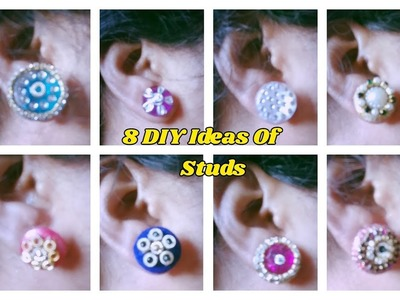 8 DIY Ideas Of studs  Making with show buttons