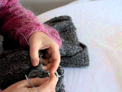 Courchevel Cardi KAL Picking Up Stitches for Sleeve and Knitting Magic Loop