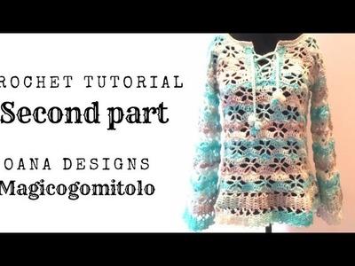 "Crochet ""thousand flower"" blouse part 2"