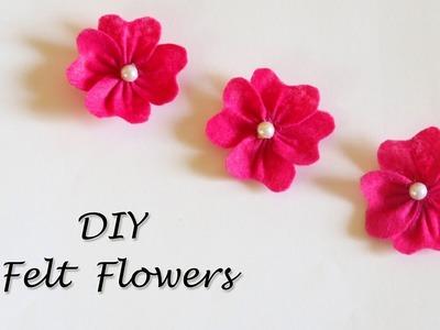 DIY Felt Flowers Tutorial   Easy Flower Making   Little Crafties