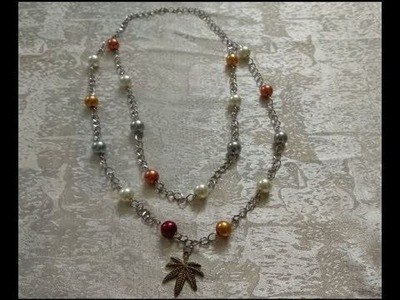 DIY Jewelry Making -  How to Make a Simple Beaded Necklace + Tutorial !