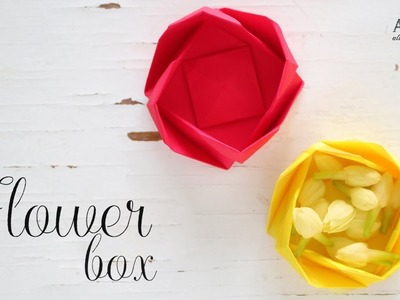 DIY Paper Flower Box | Origami Box | Paper Folding