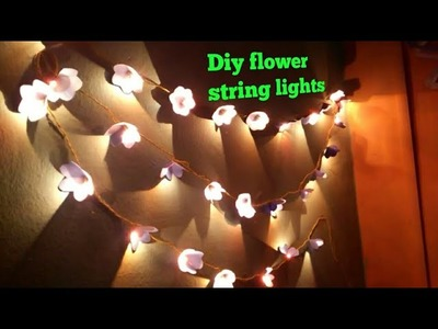 DIY paper flower light strings|diy Wall decor|diy wall hanging|paper craft|art my passion