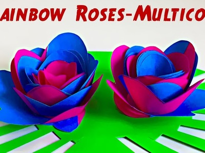 DIY Rainbow roses | How to make Multicolor flowers easy