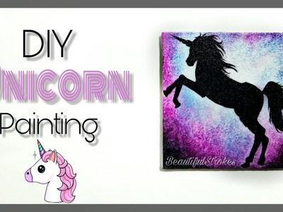 DIY Unicorn painting on Mini canvas | Silhouette