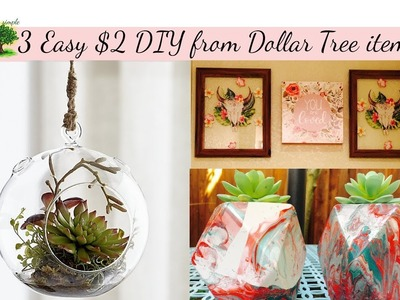 Dollar Tree DIY   3 Very Easy DIYs   Takes only 5 min and costs only $2