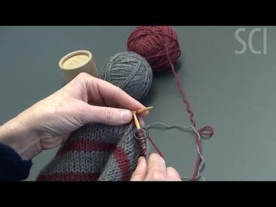 Double Knit Hat Tutorial Part 2: Changing Colors