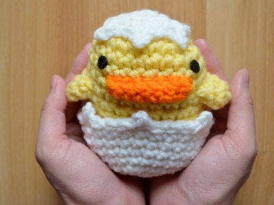 Duck Amigurumi Crochet Tutorial - Part 2 (Eggshell)