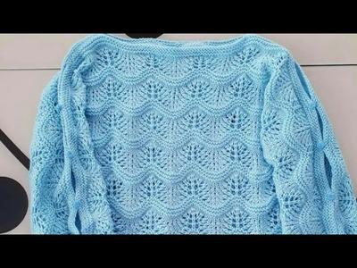 Easy & beautiful sweater design in hindi ( english subtitles ). woolen sweater design.design no 76