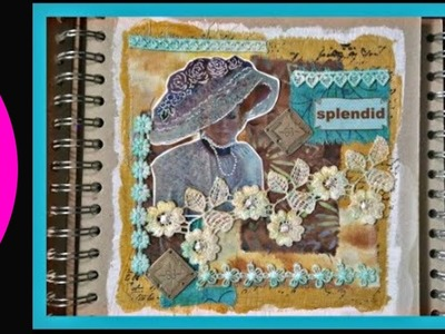 Fabric Art Journal Collage