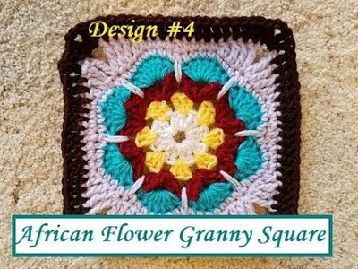 Helenmay Crochet Granny Square Series #4 African Flower DIY Video Tutorial