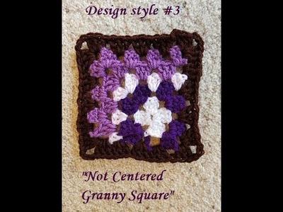 Helenmay Crochet Granny Square Series #3 Not Centered design DIY Video Tutorial