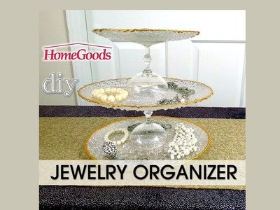 Home Goods DIY Jewelry Organizer Dislay  or Event Serving Tray -  Easy - $12