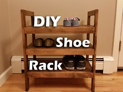 How I Made a #Rustic-ish Shoe Rack with Leftover Wood #woodproject