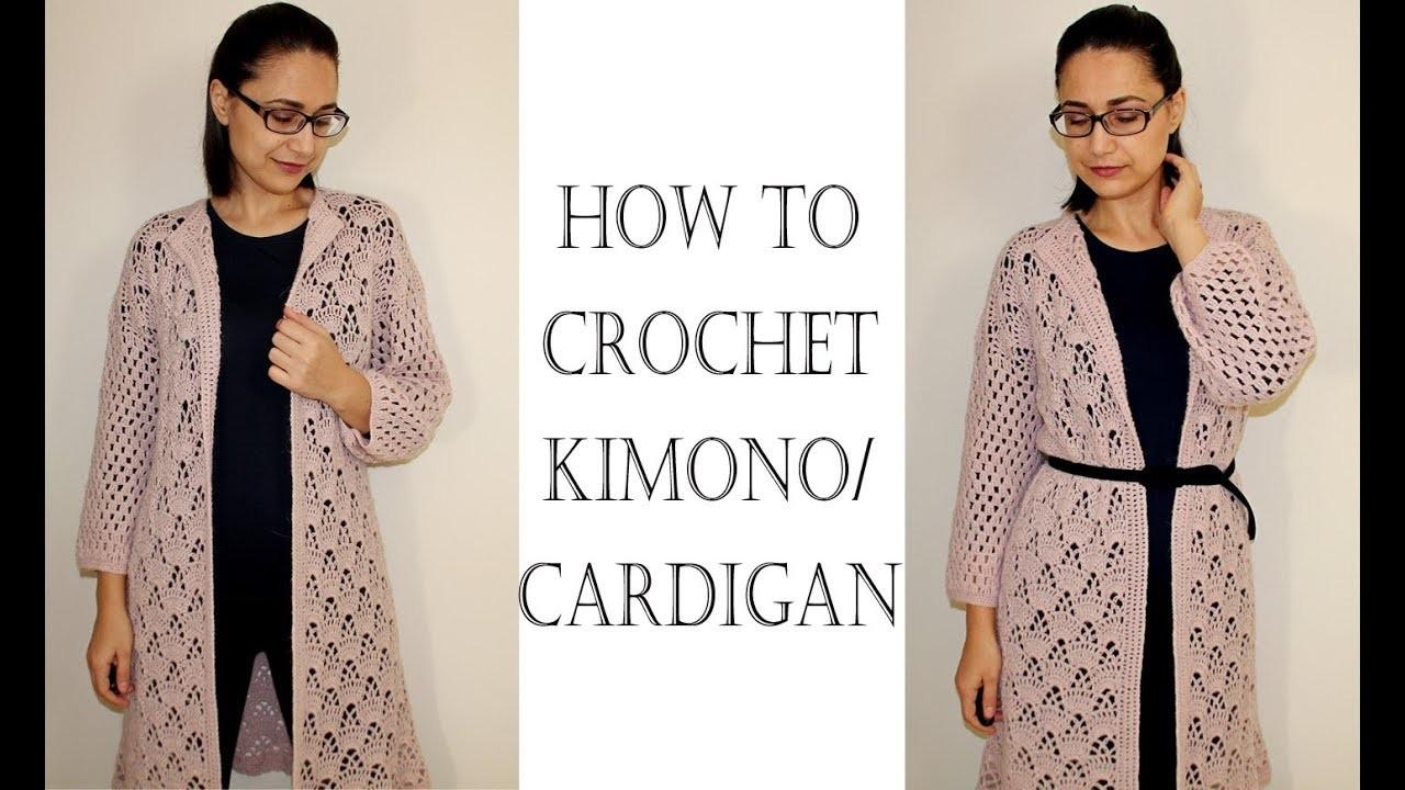 How to Crochet Easy Kimono Cardigan