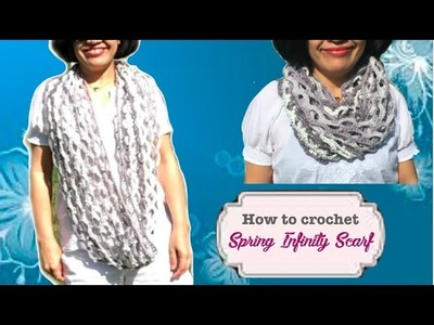 How to crochet Spring Infinity Scarf