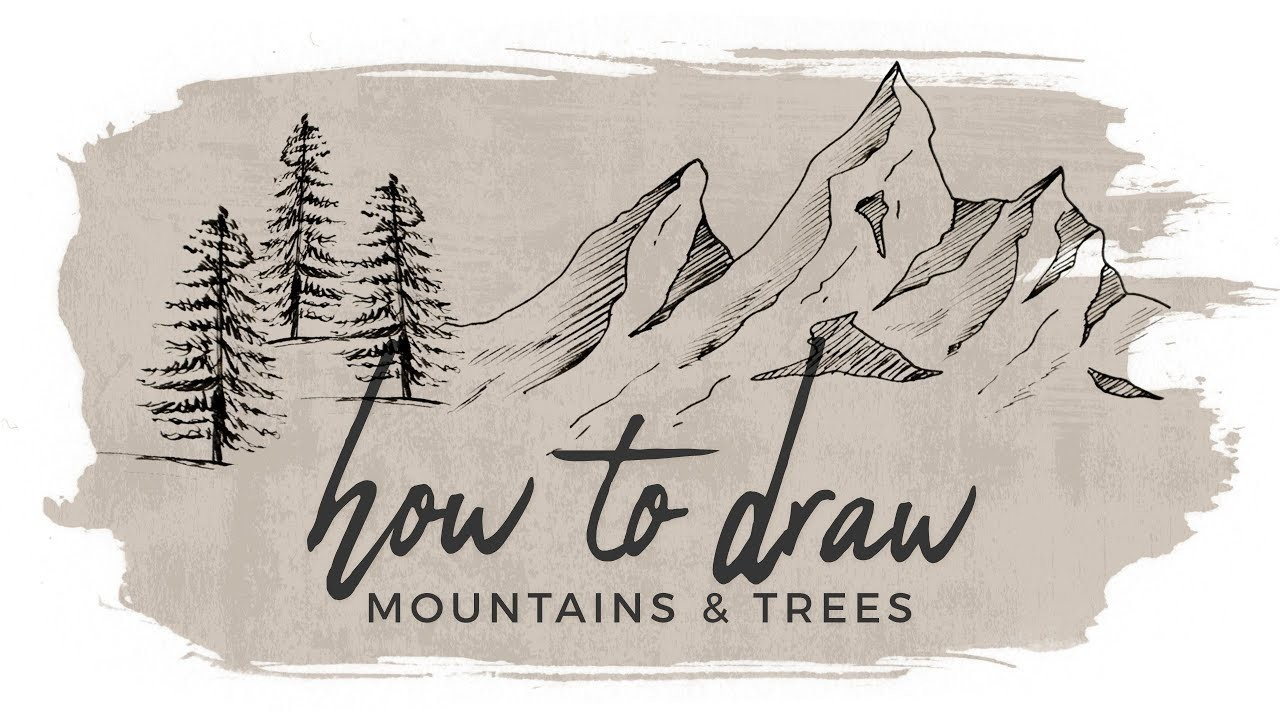 How To Draw Mountains And Trees Doodle With Me