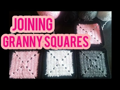 How to join Granny Squares using the Mattress Stitch