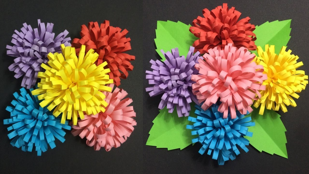How To Make Flower With Colored Paper Making Paper Flowers Step By