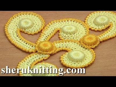 How to make Motif For Irish Lace Tutorial 62