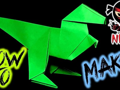 How to make: Origami Paper Raptor (w. Verbal Instructions + Music)