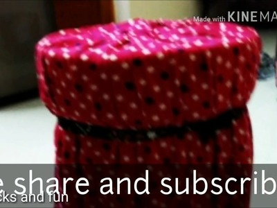 How to make Ottoman Stool using old baby milk cans diyideas