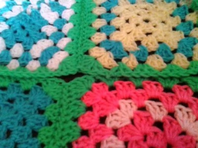 How to put a granny square blanket together