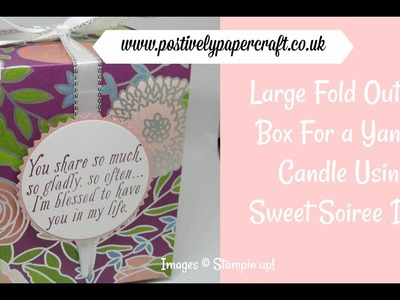 Large Fold Out Gift Box For A Yankee Candle Jar