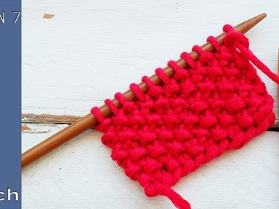 Learn to knit quickly - Lesson 7: Seed stitch - So Woolly