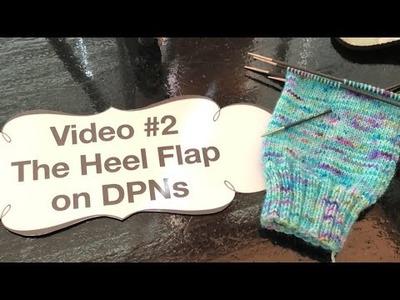 Learn to Knit Socks - # 2: the heel flap on DPNs