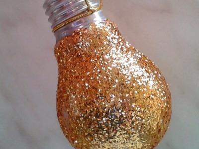Make a Pretty Glittery Lightbulb Ornament - Home - Guidecentral