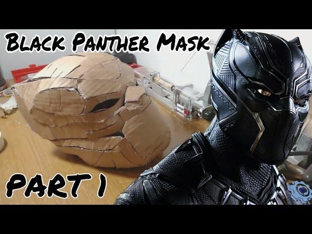 make black panther mask part 1 template cardboard
