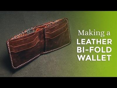 Making a Leather Bi-Fold Wallet ⧼Week 26.52⧽